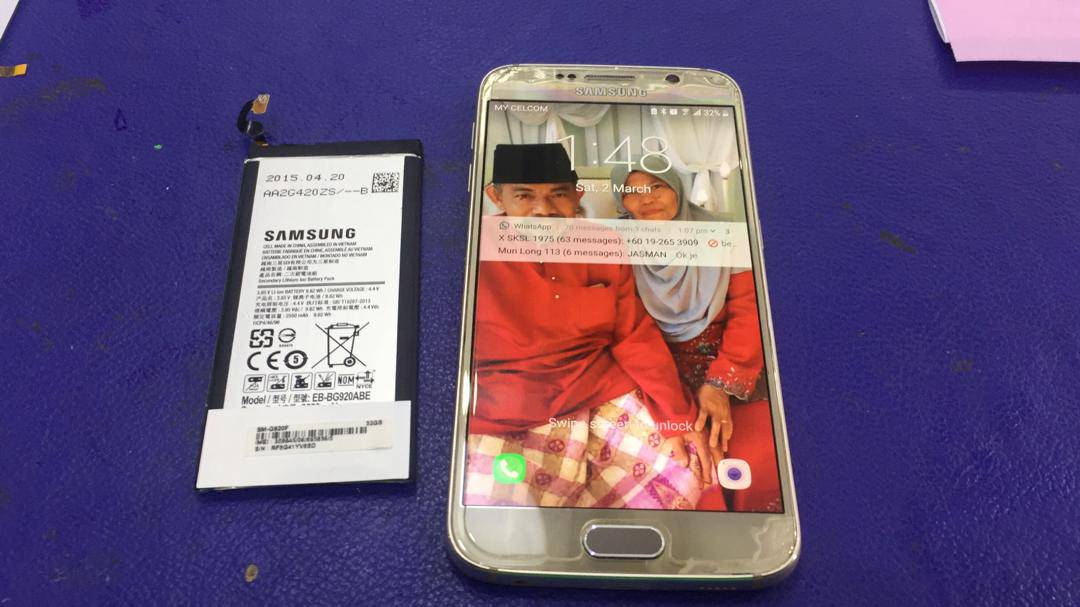 SAMSUNG S6 BATERY REPLACEMENT