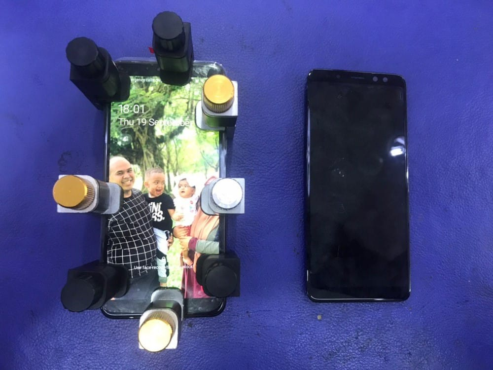 Water Damage and LCD Replacement for Samsung A8 (2018)